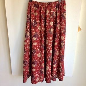 Liz Baker Essentials Wine Print Skirt Sz 1X 3/$30